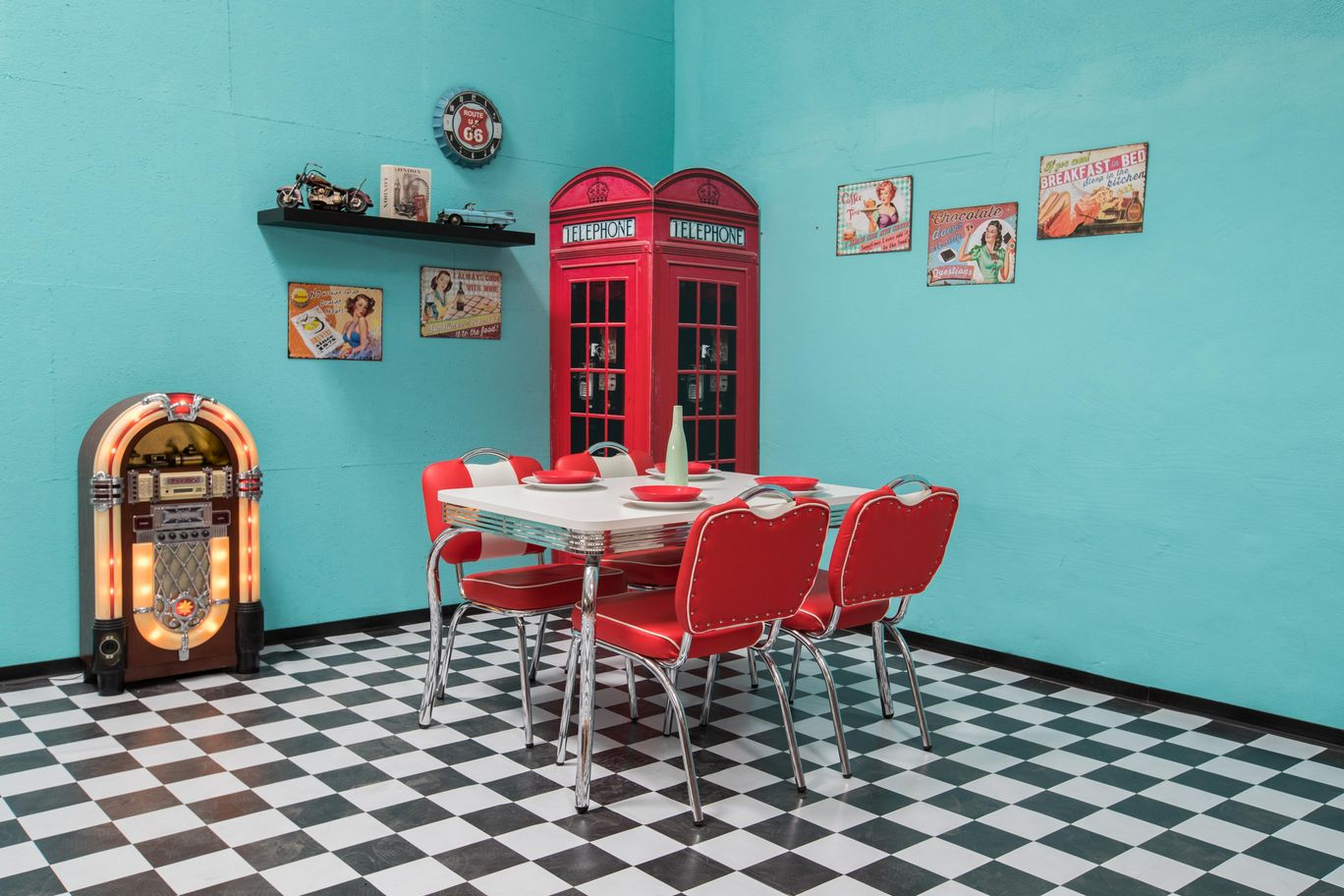 Fotoset American Diner mieten